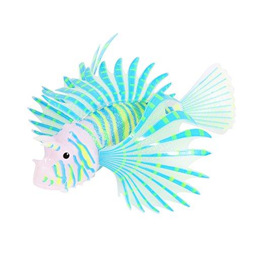 Künstliche Fische Löwe Luminous Fake Fisch Aquarium Fisch Tank ornament Glow Simulation Tier Dekoration (Fake-aquarium)
