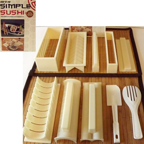 The Complete Home - Kit per preparare il sushi da 10...