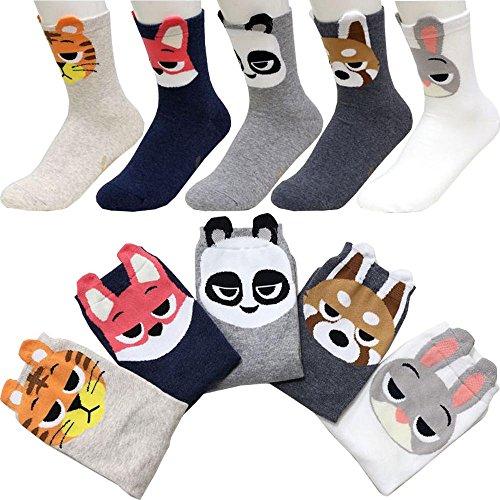 Preisvergleich Produktbild Small luxury socks factory Packung mit 5 Zootopia Mannschafts socken Judy Hopps Nick Wilde Finnick Gideon Grey Panda Sneaker Socken