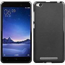 Prevoa ® 丨  XIAOMI Redmi 3 Funda - Transparent Silicona TPU Protictive Funda Case Carcasa para XIAOMI Redmi 3 5,0 pulgadas 4100 mAh 4G LTE Smartphone - Negro