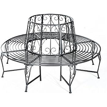 formsch ne rundbank baumbank metall gartenbank eisen bank rund neu. Black Bedroom Furniture Sets. Home Design Ideas
