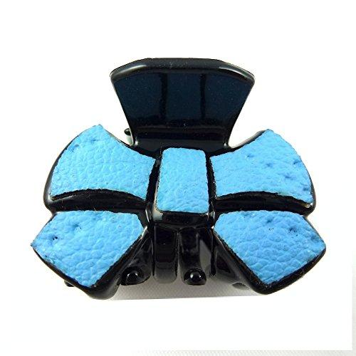 rougecaramel - Accessoires cheveux - Mini pince crabe cheveux fantaisie 2.5cm - bleu