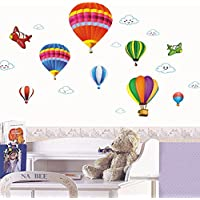 iTemer Vinilos decorativos pared dormitorio Pegatinas pared decorativas Stickers Decoracion pared Apariencia elegante Globo de aire caliente 50 * 70cm 1 set