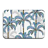 dewdferf Non-Slip Doormat Abstract Coconut Durable Mats rug Bathroom Bedroom Floor Carpet