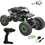 #3: Negi 1:18 Rechargeable Rock Crawler 4WD 2.4 Ghz 4x4 Rally Car RC Monster Truck Kids Play Toys (Green)