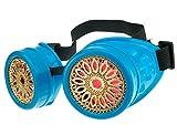 MFAZ Morefaz Ltd Schutzbrille Schweißen Sonnenbrille Welding Cyber Goggles Steampunk Goth Round Cosplay Brille Party Fancy Dress (Blue Design)