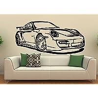 Pared Adhesivo Porsche 911Turbo, vinilo, negro, XL
