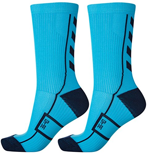 Hummel Socken Tech Indoor Sport Sock Low 2 Paar (methyl blue/total eclipse (8596), 46 - 48 (Size 14))