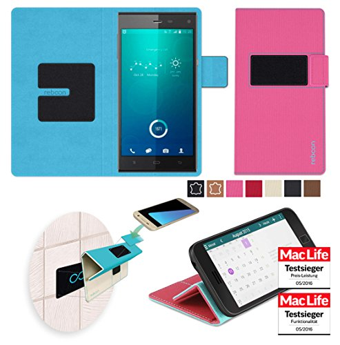 reboon Hülle für Phicomm P660 Passion Tasche Cover Case Bumper | Pink | Testsieger