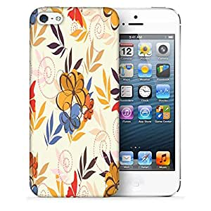 Snoogg Multicolor Petals Printed Protective Phone Back Case Cover For Apple Iphone 5 / 5S
