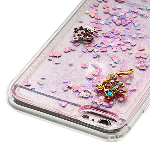 Mk Shop Limited Coque Housse Etui pour iPhone 7 Plus, iPhone 7 Plus Coque en Silicone Glitter, iPhone 7 Plus Silicone Coque Housse Transparent Etui Gel Slim Case Soft Gel Cover, Etui de Protection Cas Multi-couleur 15