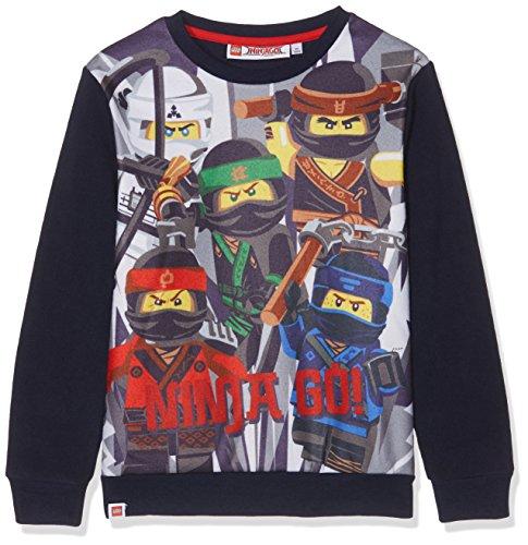 Lego Ninjago Jungen Fleece Sweatshirt - marine blau - 128 (Ninjago Sweatshirt)