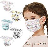 50 piezas de protección desechable para niños, transpirable, patrón de dibujos animados mixto, adecuado para d