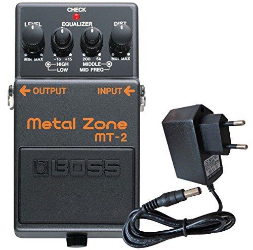 Boss MT-2 Metal Zone Distortion Pedal + keepdrum 9V Netzteil (Pedal Boss Guitar Overdrive)