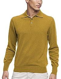 Parisbonbon Men's 100% Cashmere Polo Sweater