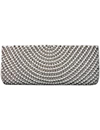 Armkandy, Pearl White Beads With Diamonds, Women Clutch