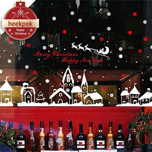 Heekpek® Navidad Tienda De Ventana Pegatinas De Pared