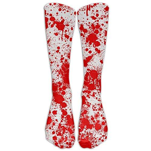 khgkhgfkgfk Splash Blood Scary Unisex Neuheit lange Socken Athletic Tube Strümpfe Größe 6-10 19,68 Zoll -