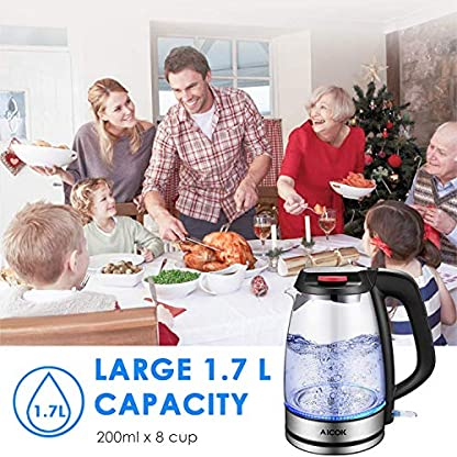Wasserkocher-AIcok-2200W-Wasserkocher-Glas-mit-Blau-LED-Beleuchtung-Glaswasserkocher-mit-Schnellkochfunktion-und-Trockenlaufschutz-BPA-Frei-17-L-Automatische-Abschaltung-Edelstahl