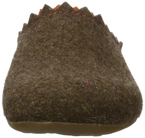 Haflinger - Everest Lotta, Pantofole Donna Braun (Schoko)