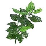 Set 2 x Künstliche Caladiumpflanze, 3-stämmig, auf Steckstab, 90 cm - Künstliche Grüne Pflanze / Deko Pflanze - artplants