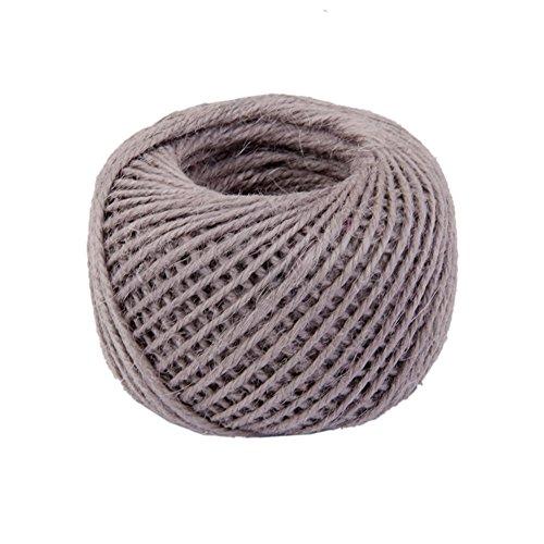 Drawihi DIY Bastelschnur Jute Seil Gartenschnur Hanf Seil für Crafts Arts und Gardening Dekoration (Grau) 50m*2mm