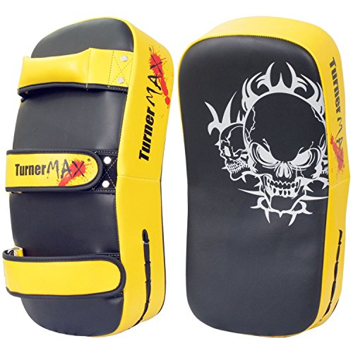 TurnerMAX Rexion Thai Pad Curved Schlag Boxing Trainings MMA Pad Paar