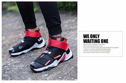 Unisex Leggero Sneakers Di Pallacanestro 2017 Autunno Inverno In Cima Coppia Moda Traspirante Atletico Formatori Black red