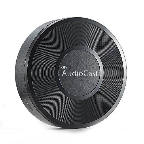 Drahtloser DLNA Airplay Musik-Empfänger Riversong® Adapter Netzwerk Audio-Receiver,Bluetooth-Adapter kompatibel mit Apple iOS Android Geräte Unterstützung Multi-Room-Musik-Streaming