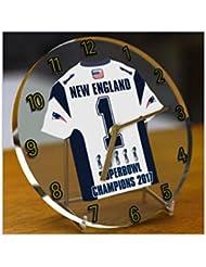 New England Patriots NFL–Match 51Champions de collection Desk/étagère/horloge de table–Champions du monde 2017