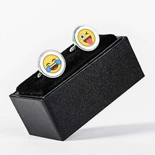 Emoji Emotions Tears of Joy Tongue Winking Eye Gemelli