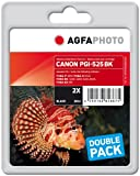 AgfaPhoto APCPGI525BDUOD Tinte für Canon IP4850, 40 ml, schwarz