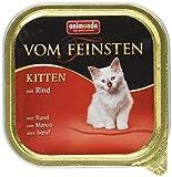 Animonda Vom Feinsten Kitten, Nassfutter für wachsende Katzen im ersten Lebensjahr,  mit Rind, 32 x 100 g