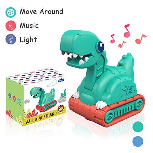 Lehoo Castle Dinosaurier Spielzeug ab 1 jahr, Dinosaurier Bagger und Lastwagen mit Licht und Musik, Truck Kinderfahrzeug Spielzeug, Bagger Spielzeug ab 2 jahre, lkw Spielzeug für 1-3 Jahre alte