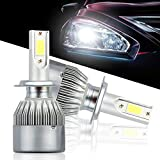 Picture Of SEEYC H7 LED Headlight Bulbs 36W 3800lm 6500K White All-in-One Conversion Kit 12v Auto Headlamp fog lamp 2Pcs- 1 Year Warranty