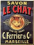 Cartexpo M15605 Divers Carte Savon Le Chat Métal 15 x 20 cm