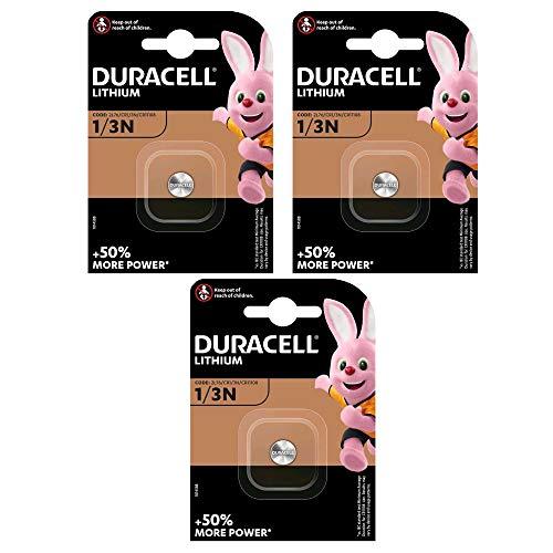 3er Set Duracell Lithium Batterie CR 1/3 N