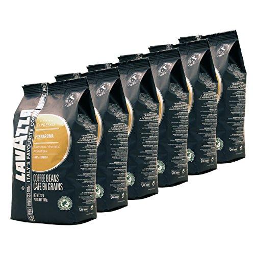 Lavazza Kaffee Espresso Pienaroma, ganze Bohnen, Bohnenkaffee, 6er Pack, 6 x 1000g