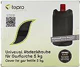 Tepro Universal Gasflaschenabdeckhaube, 5 kg, schwarz, 24 x 24 x 45 cm, 8114