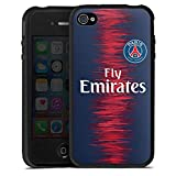 DeinDesign Apple iPhone 4 Coque en Silicone Étui Silicone Coque Souple Paris Saint Germain Produit sous Licence Officielle Maillot PSG