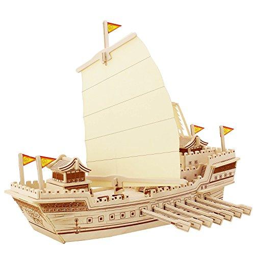 sterxy Robotime ba504s 3D Holz Puzzle Bausatz, DIY Schiff Modell alten chinesischen Kriegsschiff