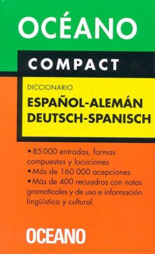 Océano Compact Diccionario Español - Alemán / Deutsch - Spanisch (Diccionarios) por Aa.Vv.