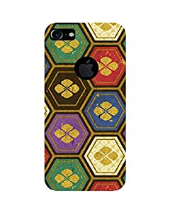 GripIt Fabric Flower Pattern Printed Case for Apple iPhone 7
