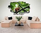 Eichhörnchen 3D Look Wandtattoo 70 x 115 cm Wanddurchbruch Wandbild Sticker Aufkleber DesFoli © C570