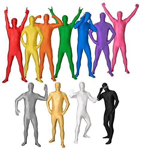 r Kinder Ganzkörperanzug Anzug Suit Kostüm Gr. Kids S / Kids M / Kids L - ALLE FARBEN - schwarz [Kids L] (Halloween Morphsuits Kids)