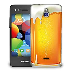 Snoogg Asbtract Beer Designer Protective Back Case Cover For INFOCUS M2