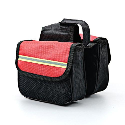 XY&GKFahrradtasche vorderen Trägers Pack Reiten Zubehör Tasche Fahrrad Zubehör Mountainbike Sattel Tasche obere Rohr Beutel, machen Ihre Reise angenehmer Red 14cm*12cm*4cm