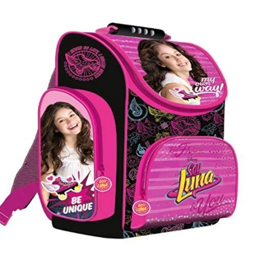 Soy Luna 2018 Schulranzen Rucksack Kinderrucksack Ranzen Schulrucksack Mädchen sehr leicht gepolstert viele Fächer