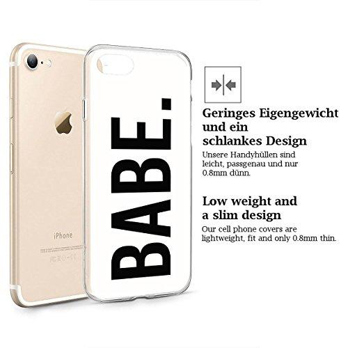 finoo   iPhone 6 und 6S Weiche flexible Silikon-Handy-Hülle   Transparente TPU Cover Schale mit Motiv   Tasche Case Etui mit Ultra Slim Rundum-schutz   Queen Babe White