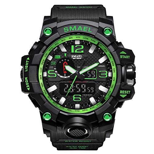 XZDCDJ Digitale Uhren Herren Sportuhr Armbanduhr Casual Herren Multi-Funktions-Dual Display Dial Outdoor wasserdichte Sportuhr J -
